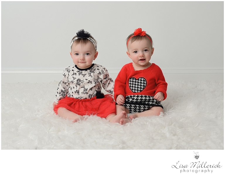 valentine identical twin baby girls