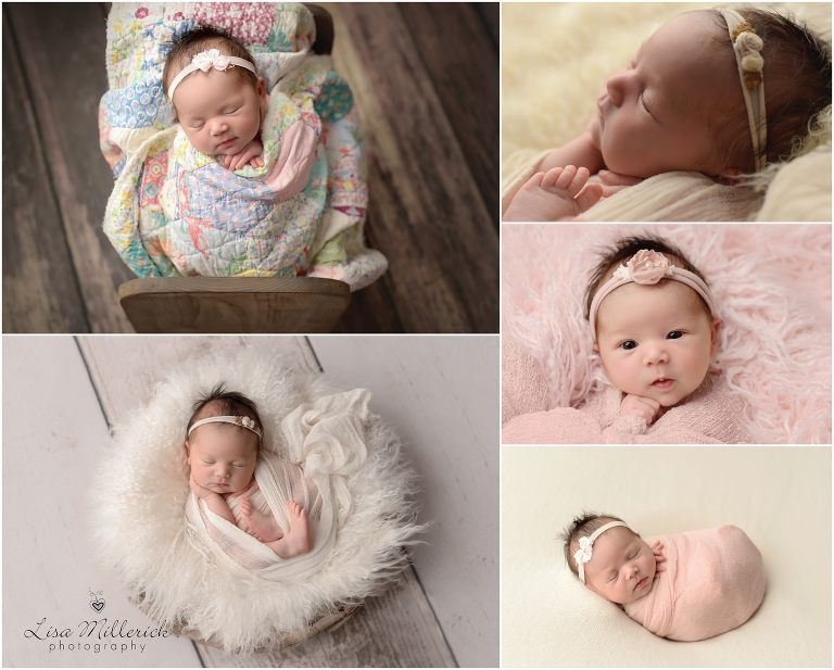 Lisa Millerick Photography Central CT swaddle baby newborn girl
