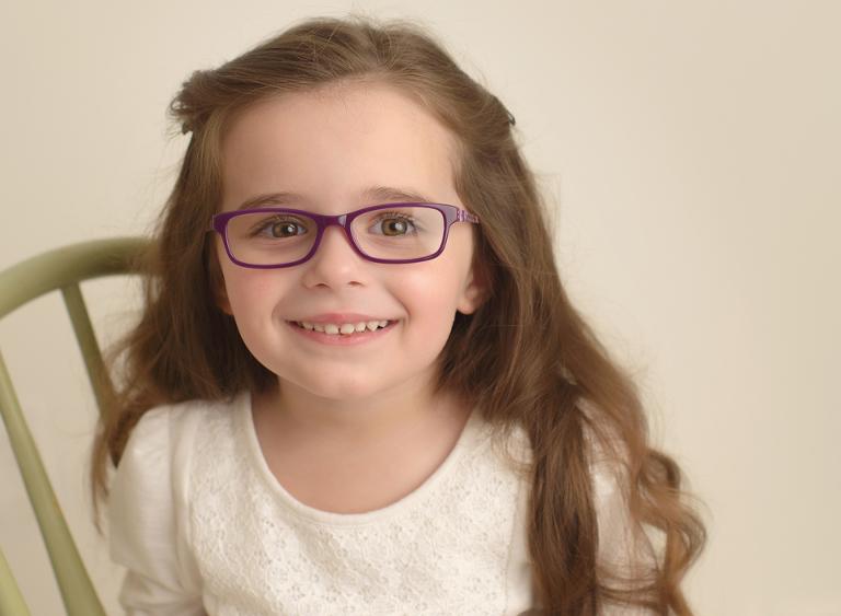 glasses girl bone savage smiles happy school photo