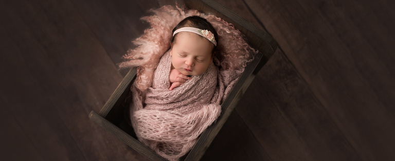 pink baby girl rustic simple newborn